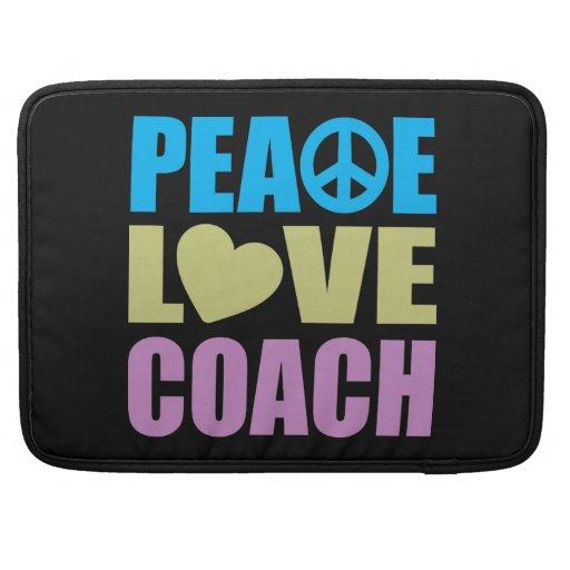 Coche del amor de la paz fundas para macbook pro