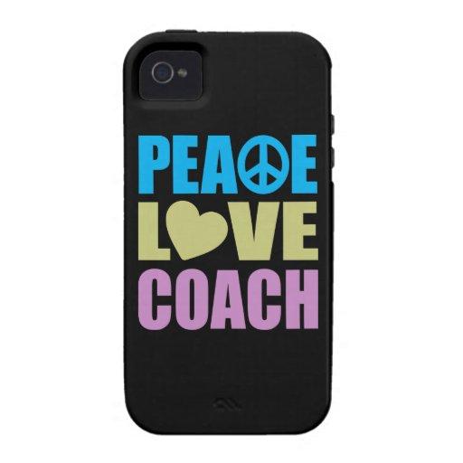 Coche del amor de la paz iPhone 4 carcasas