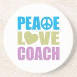 Coche del amor de la paz posavasos manualidades