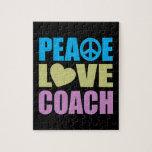 Coche del amor de la paz puzzle