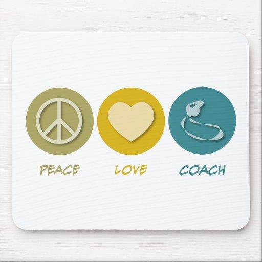 Coche del amor de la paz tapetes de ratones