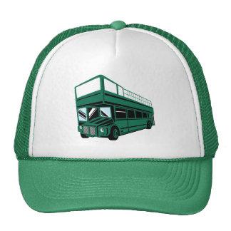 Coche del autobús turístico del autobús de dos pis gorro