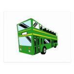 Coche del autobús turístico del autobús de dos pis postales