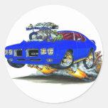 Coche del azul de 1970 GTO Pegatinas