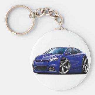 Coche del azul de DK del dardo de Dodge Llavero Redondo Tipo Pin