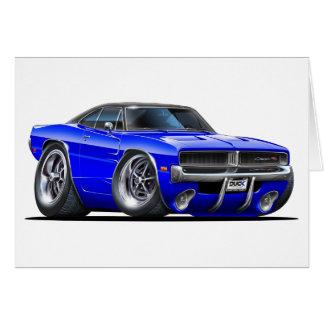 Coche del azul del cargador de Dodge Felicitación