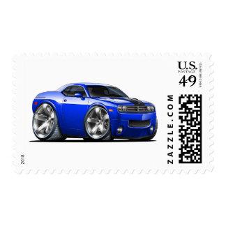 Coche del azul del desafiador timbres postales