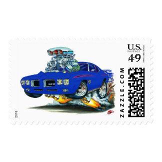 Coche del azul del juez de 1970 GTO Estampilla