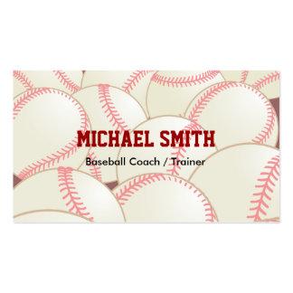 Coche del béisbol/del softball tarjetas de visita