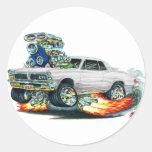 Coche del blanco de 1965 GTO Etiqueta Redonda