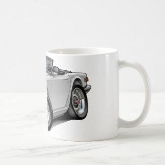 Coche del blanco de Triumph TR6 Taza Clásica