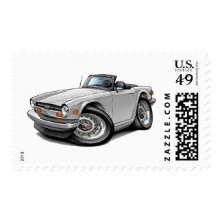 Coche del blanco de Triumph TR6 Timbres Postales