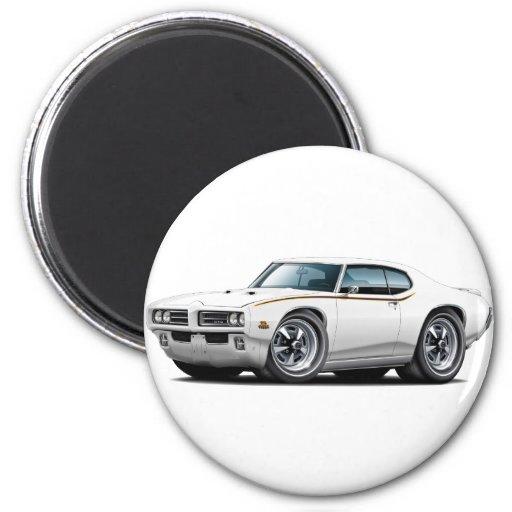 Coche del blanco del juez de 1969 GTO Iman Para Frigorífico