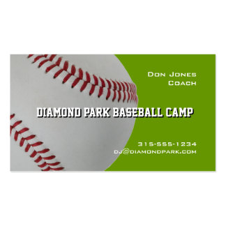 Coche del campo del béisbol tarjetas de visita
