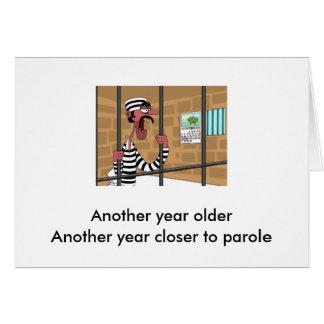 Coche del cumpleaños para el preso tarjeta de felicitación
