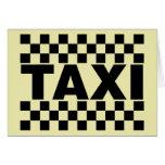 Coche del ~ del taxi del ~ del taxi para el alquil tarjeta