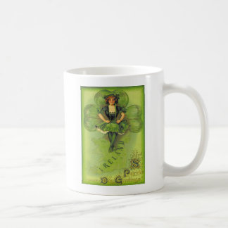 Coche del día de Irlanda St Patrick del trébol del Taza De Café