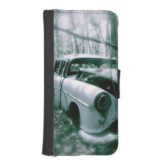 Coche del fantasma en la caja de la cartera del fundas tipo billetera para iPhone 5