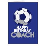 COCHE del feliz cumpleaños con el balón de fútbol Tarjetón