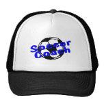 Coche del fútbol (azul) gorra