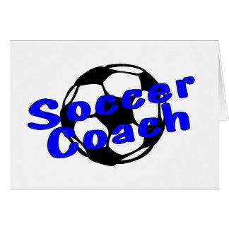 Coche del fútbol (azul) tarjeta de felicitación