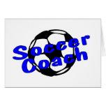 Coche del fútbol (azul) tarjeton