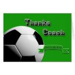 Coche del fútbol de GreenThanks Tarjeta