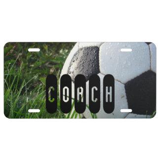 Coche del fútbol del balón de fútbol placa de matrícula