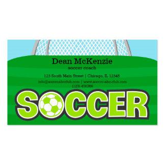 Coche del fútbol/jugador de fútbol (cal) tarjetas de visita