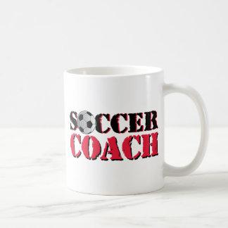 Coche del fútbol (rojo) taza básica blanca
