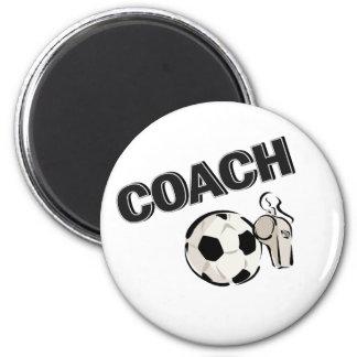 Coche del fútbol (silbido/bola) imán redondo 5 cm