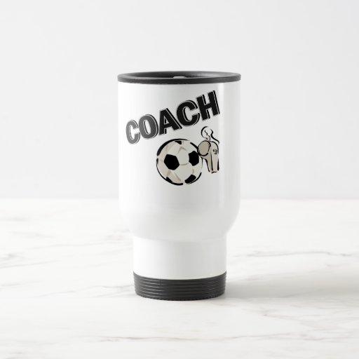 Coche del fútbol (silbido/bola) taza de viaje de acero inoxidable