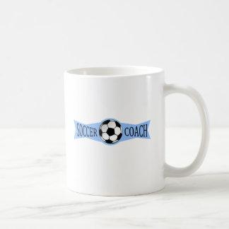 coche del fútbol taza de café