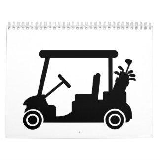 Coche del golf calendarios de pared