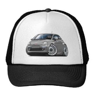 Coche del gris de Fiat 500 Gorras
