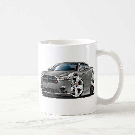 Coche del gris del RT del cargador de Dodge Taza De Café