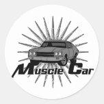 Coche del músculo de Chevy Nova Etiqueta Redonda