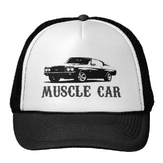 coche del músculo del vintage gorro de camionero