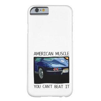 Coche del músculo, obra clásica y azul americanos funda de iPhone 6 barely there