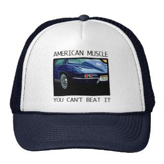 Coche del músculo, obra clásica y azul americanos  gorra