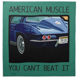 Coche del músculo, obra clásica y azul americanos  servilleta de papel