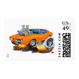 Coche del naranja de 1969 GTO Timbres Postales