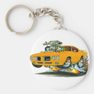 Coche del naranja de 1970 GTO Llaveros