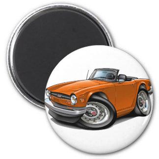 Coche del naranja de Triumph TR6 Imán Redondo 5 Cm