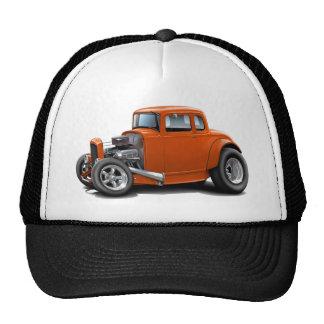 coche del naranja del coche de carreras de los año gorro