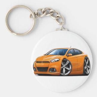 Coche del naranja del dardo de 2013 Dodge Llavero Redondo Tipo Pin