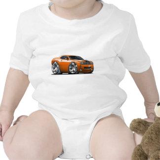 Coche del naranja del desafiador de Dodge Trajes De Bebé
