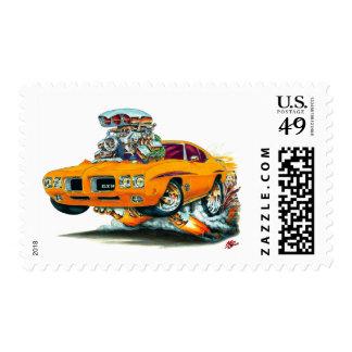 Coche del naranja del juez de 1970 GTO Sellos Postales