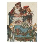 Coche del navidad del vintage tarjeta postal