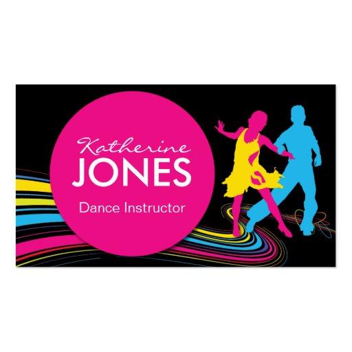 Coche del negocio del instructor de la danza tarjetas de visita